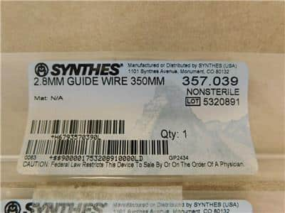Lot of 27 Synthes Screws, Guide Wires Etc. # 400.790, # 208.860, # 357.039 - New