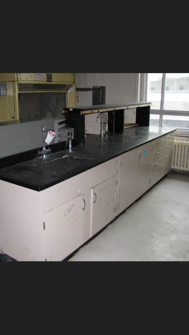 30'    Lab Cabinets w/ epoxy counter top.