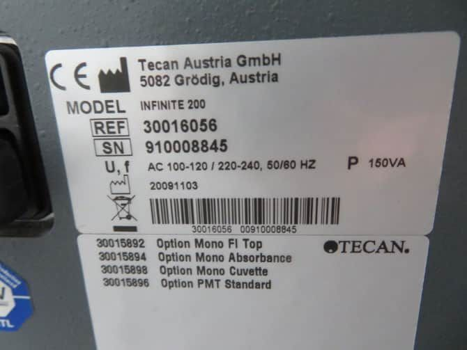 Tecan Infinite M200 Plate Reader with Warranty