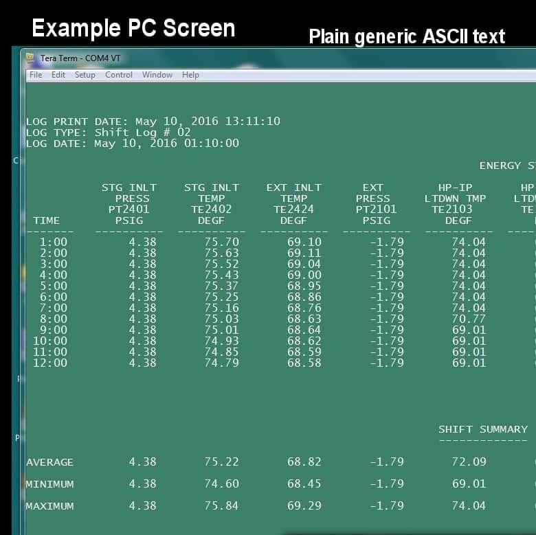 Dot Matrix Printer replacement.  PC electronic capture of reports.