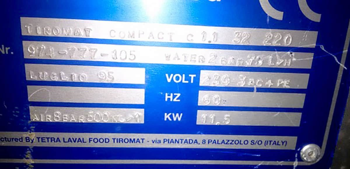 Tetra Laval Food Type Tiromat Thermoformer