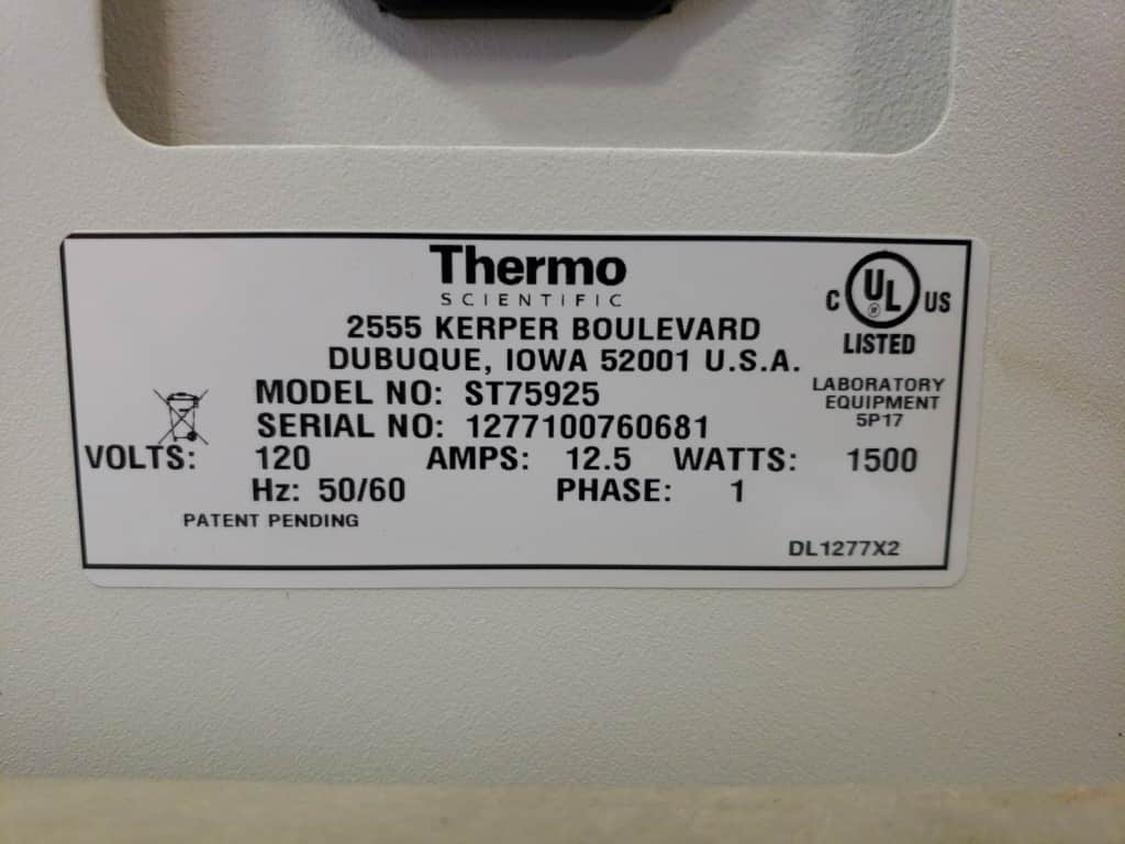 Table top Steam Sterilizer: Thermo Scientific Harvey SterileMax ST75925 - Like new condition