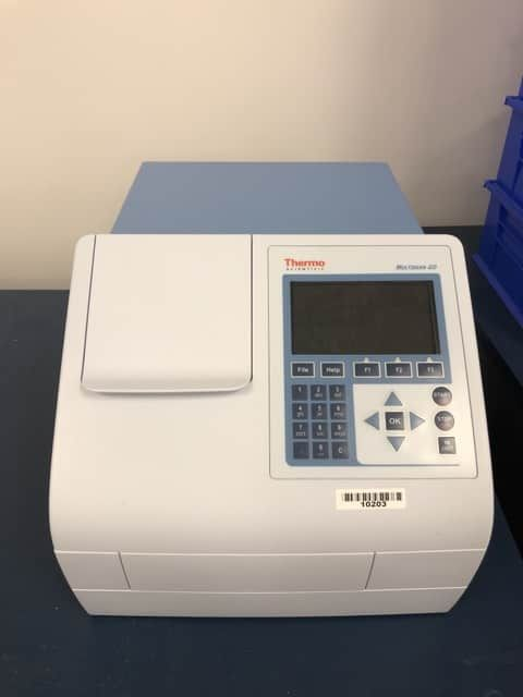 Thermo MULTISKAN GO Microplate spectrophotometer with cuvette