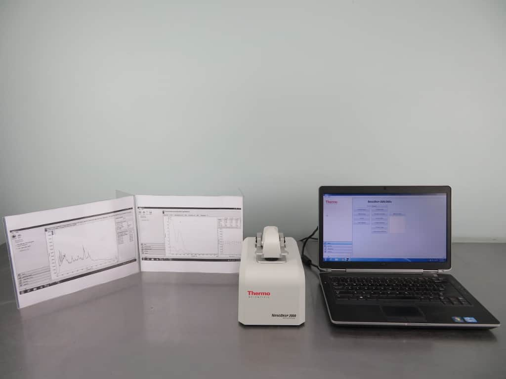 Thermo NanoDrop 2000 UV-Vis Spectrophotometer with Warranty
