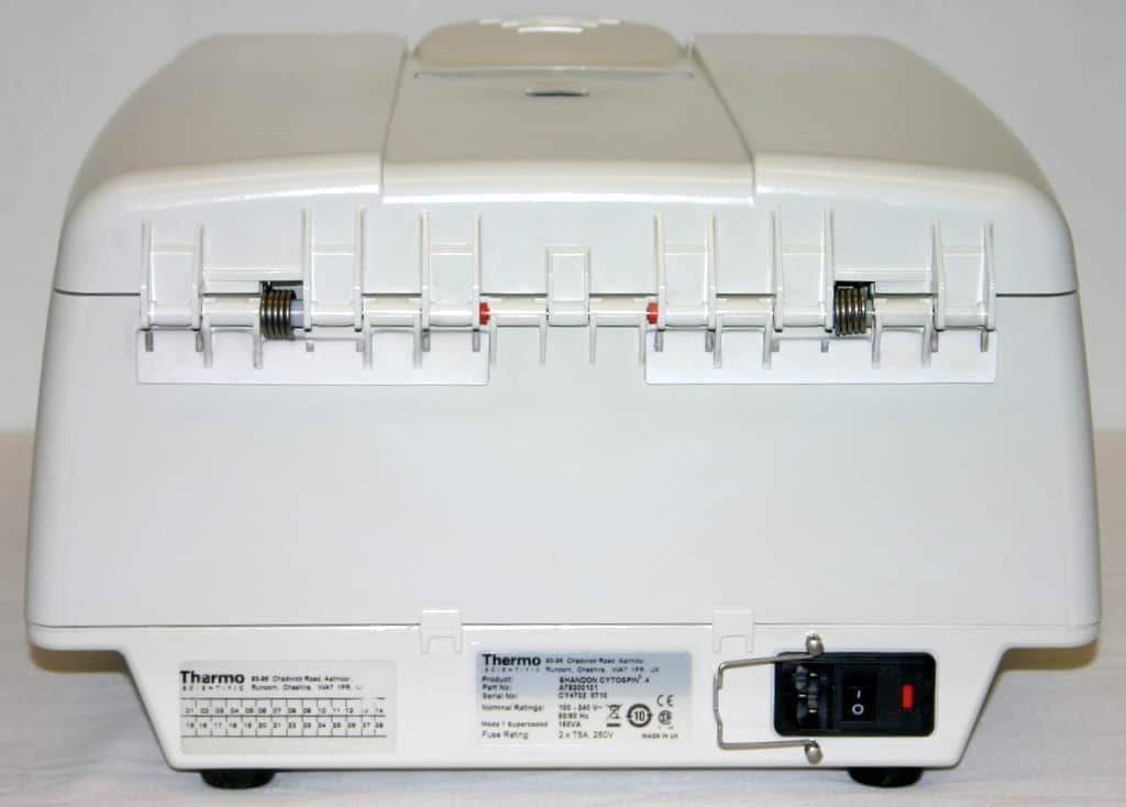 THERMO SCIENTIFIC SHANDON CYTOCENTRIFUGE, MODEL CYTOSPIN 4 WITH ROTOR & 12 CLIPS