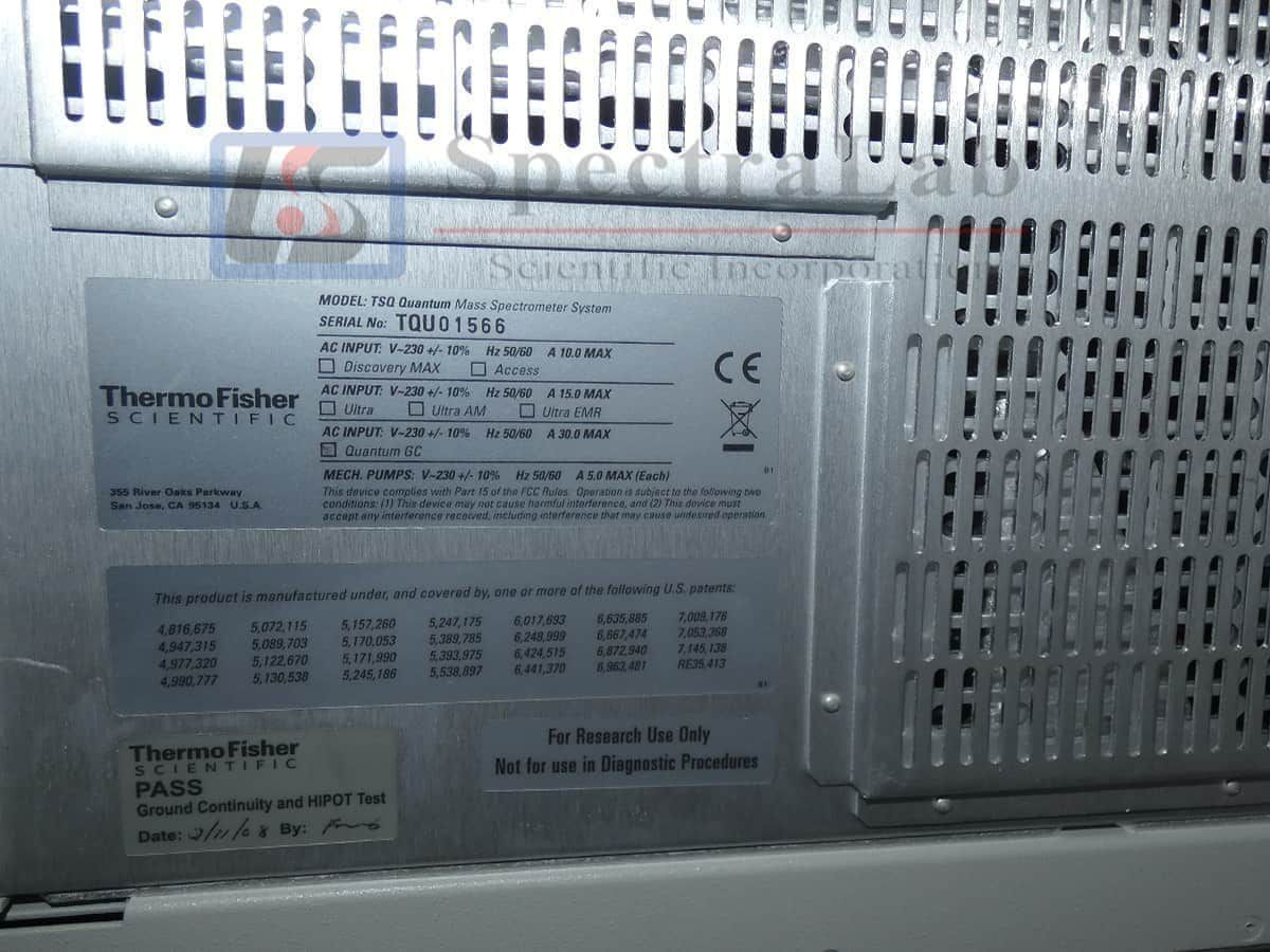 Thermo TSQ Quantum GC MS with Trace GC Ultra GC/MS/MS System