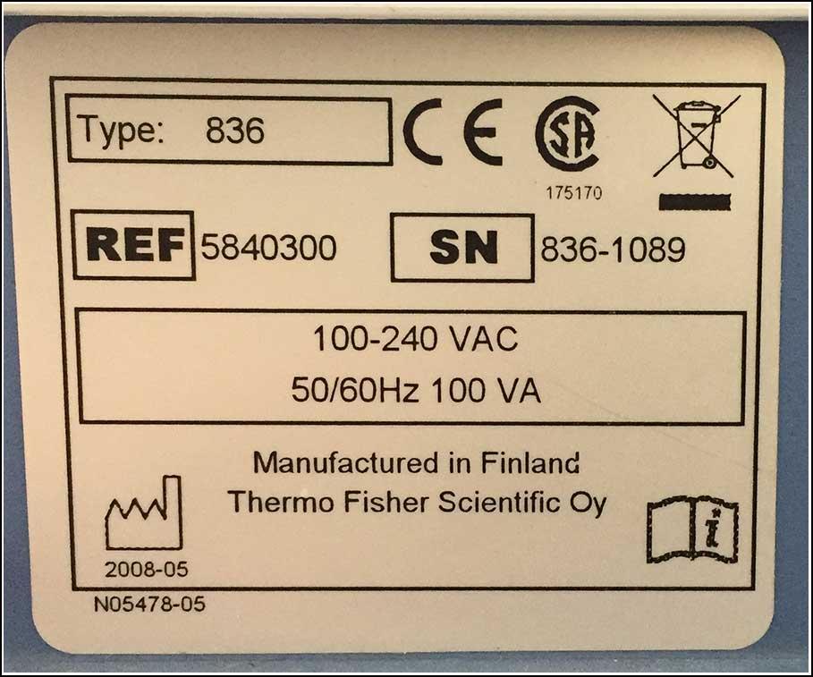 Thermo Combi Multidrop 836 w Cassette Nice W WARRANTY