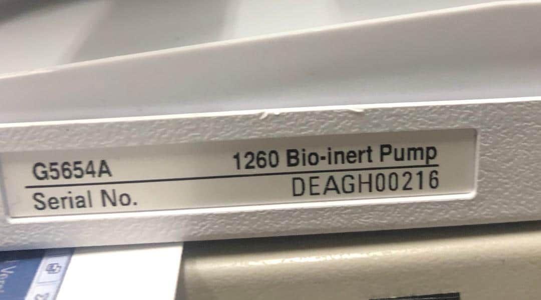 Agilent 1260 G5654A Bio-inert Quaternary Pump.