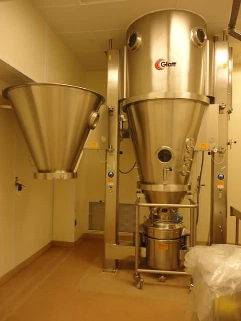 Used Glatt GPCG 30 fluid bed dryer granulator