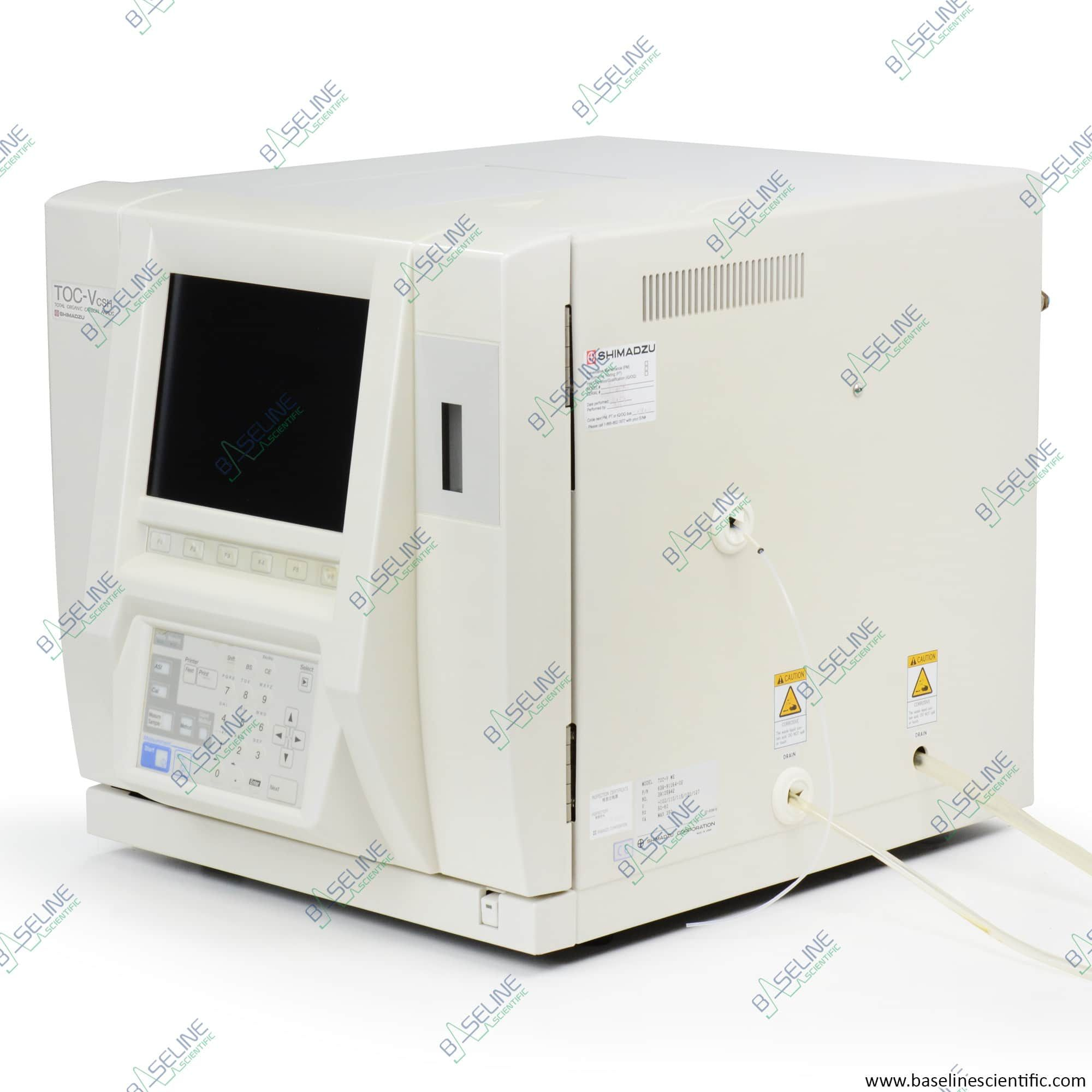 Refurbished Shimadzu TOC-V CSH Total Carbon Analyzer with ONE YEAR WARRANTY