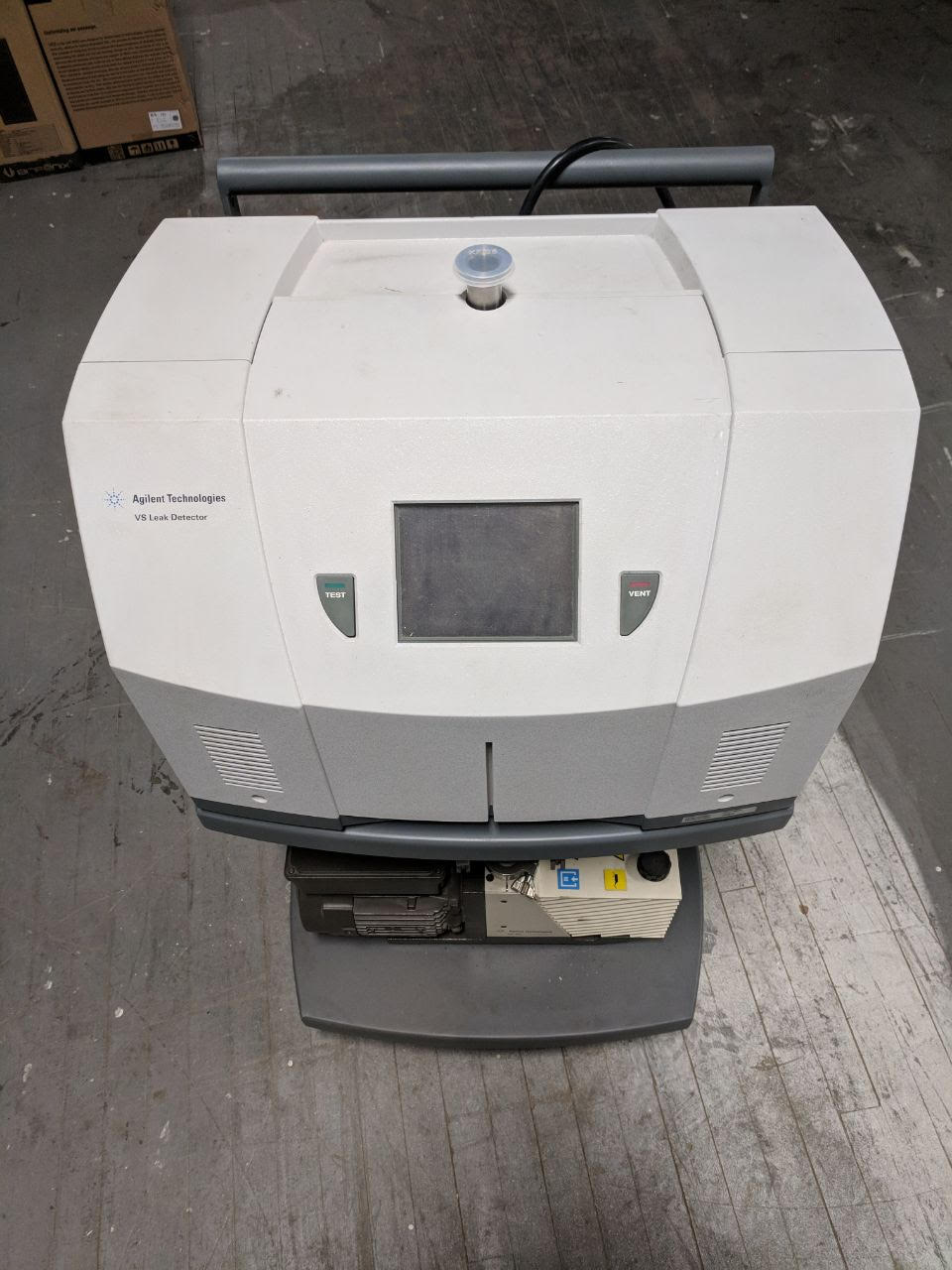 Agilent Varian VS Mobile Cart Helium Mass Spectrometer Leak Detector
