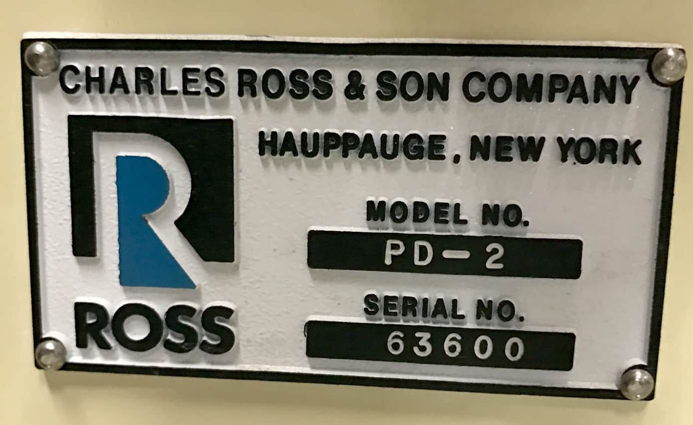 ROSS POWERMIX MODEL PD-2 GALLON HIGH SHEAR PLANETARY MIXER