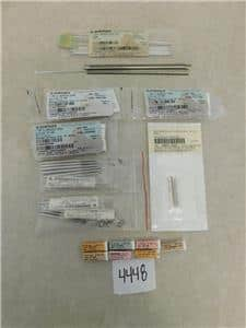 Lot of 111 Synthes Screws, Guide Wires & Drill Bits- # 400.655, # 294.43 Etc.