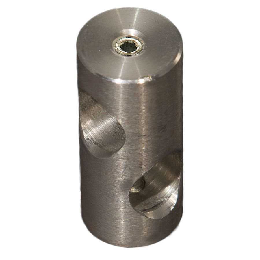 "Stainless Steel Connector for 1/2"" Rods"