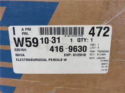 ValleyLab E2515H Electrosurgical Pencils Single Use Box of 47- Expired as of 1/2016