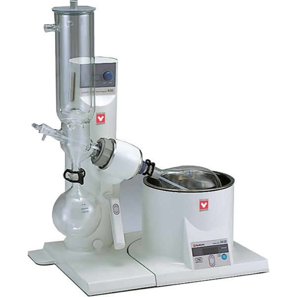 Yamato RE-301-CW2 Rotary Evaporator with BM-510 Water Bath and Glassware C