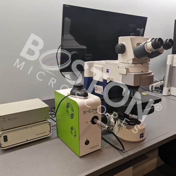 Zeiss Axio Imager M1 Upright Trinocular Phase Contrast Fluorescence Motorized Microscope