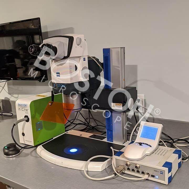Zeiss Discovery Lumar V12 Trinocular Fluorescence Stereo Microscope