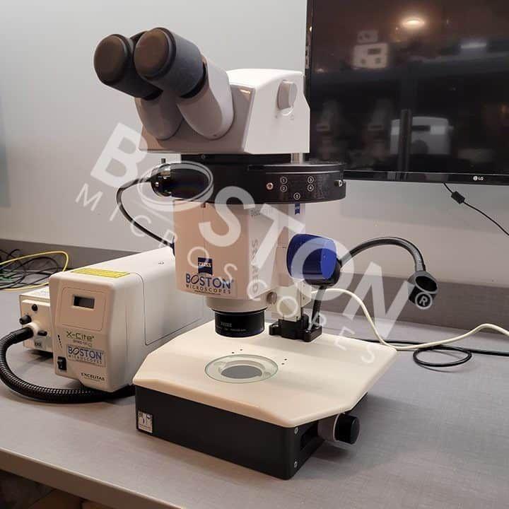 Zeiss Discovery V8 Trinocular PentaFluar Fluorescence Stereo Microscope