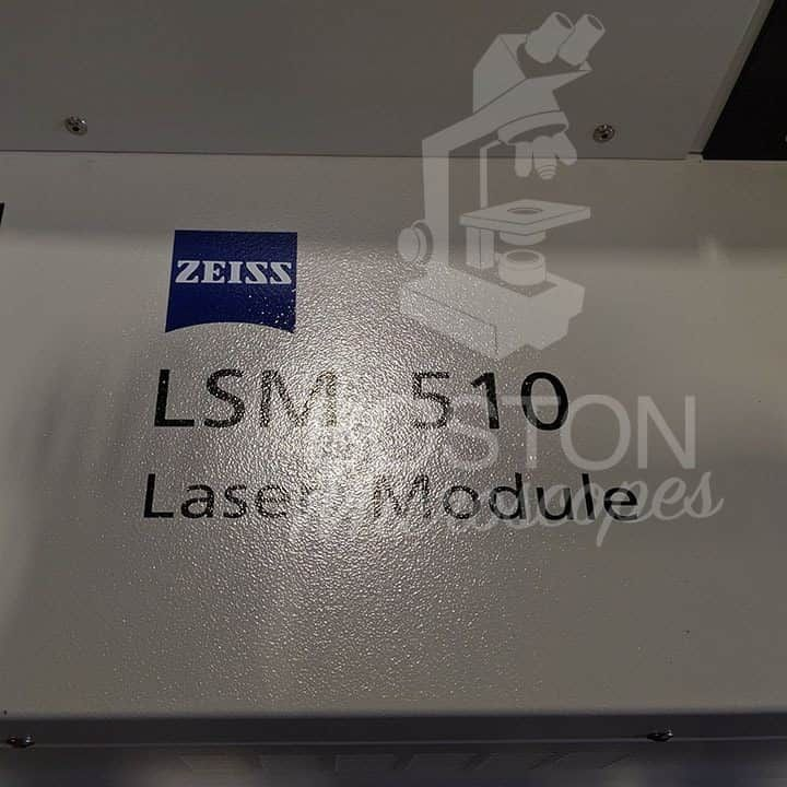 Zeiss LSM 510 Laser Scanning Confocal System w/ Zeiss Axiovert 200m Inverted Phase Contrast Fluorescence Microscope