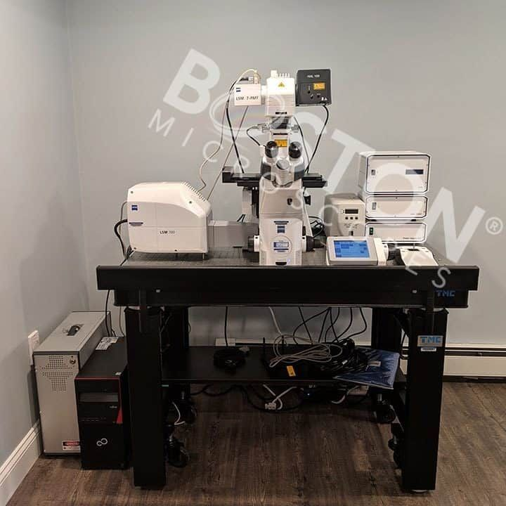 Zeiss LSM 700 Laser Scanning Confocal System w/ Zeiss Observer Z1 Inverted Phase Contrast Fluorescence Microscope