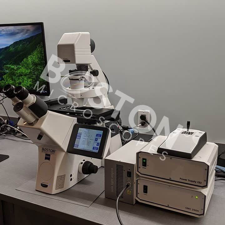 Zeiss Axio Observer 7 Inverted Phase Contrast Fluorescence Microscope