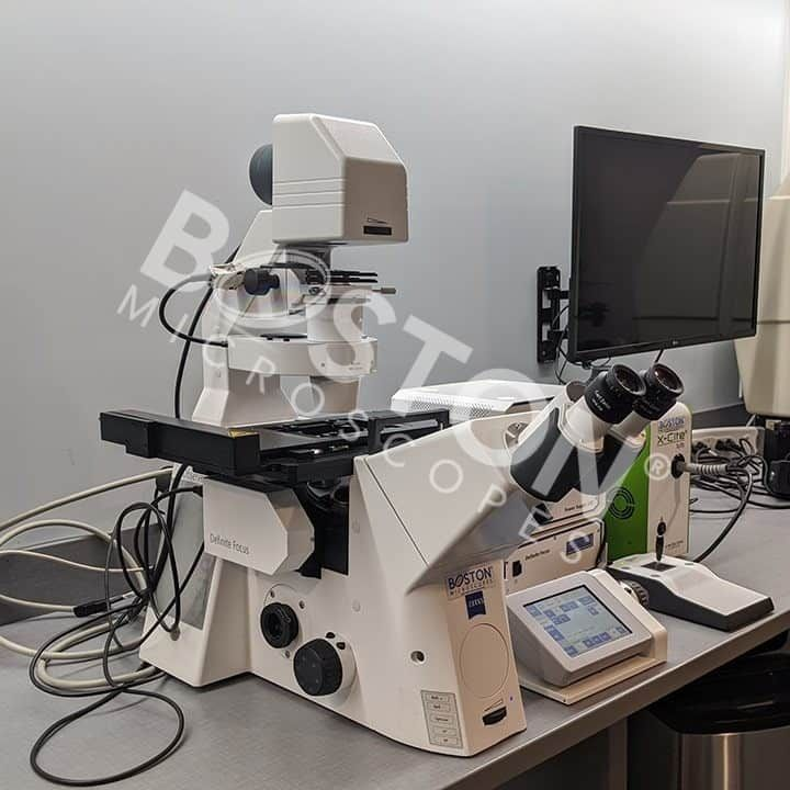 Zeiss Axio Observer Z1 Inverted Phase Contrast Fluorescence Microscope with Definite Focus
