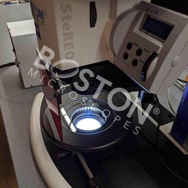 Zeiss Discovery V12 Trinocular PentaFluar Fluorescence Stereo Microscope