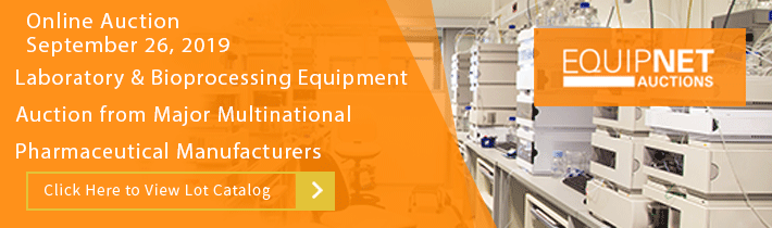 Laboratory and Bioprocessing Equipment Auction from Major Multinational Pharmaceutical Manufacturers