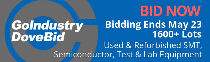 502272 — Bid Now! Simple online auction of over 1600 lots of Used & Refurbished SMT, Semiconductor, Test & Lab Equipment from the Closure of Bid Service in Freehold, NJ.