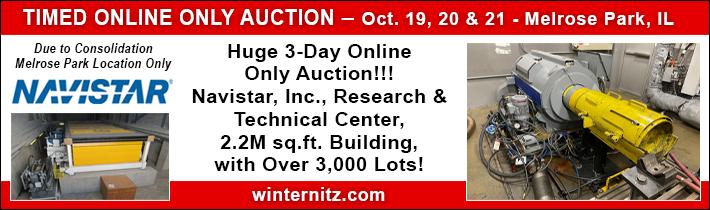 Online Only Auction!!!  Navistar, Inc., Research & Technical Center
