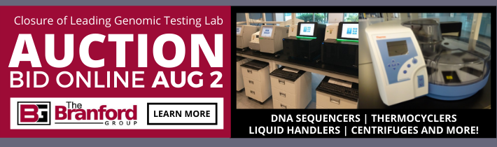 Auction:Complete Closure of Leading Genomic Testing Lab