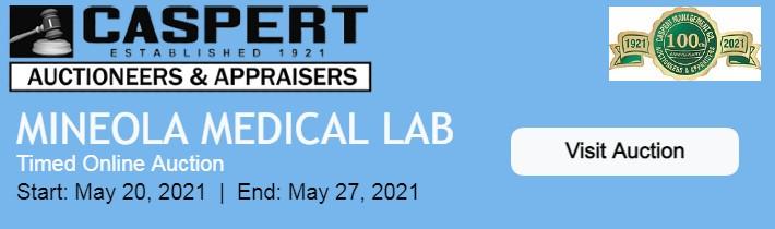 Caspert Online Auction: Mineola Medical Lab