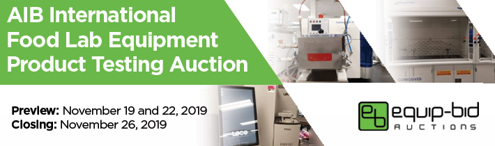 AIB International Food Lab Equipment Product Testing Auction