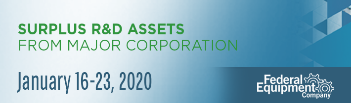 January 2020: Surplus R&D Assets from Major Corporation