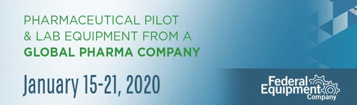 January 2020: Auction of Pharmaceutical Pilot & Lab Equipment