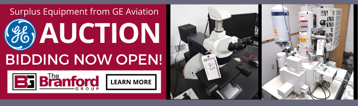 Auction: Surplus Equipment to the Ongoing Operations of GE Aviation