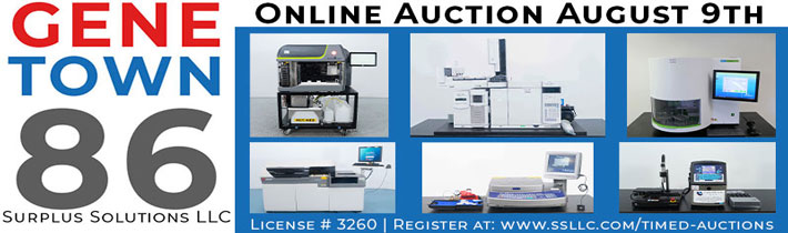 Auction: Genetown 86 Late Model Lab and Analytical Equipment