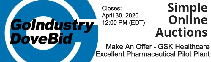 Auction GoIndustry: Make An Offer - GSK Healthcare - Excellent Pharmaceutical Pilot Plant