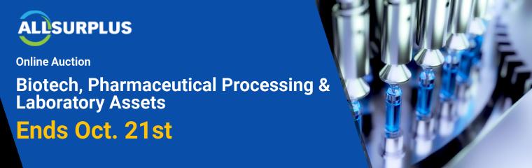 BioPharma Equipment (North America) - Biotech, Pharmaceutical Processing & Laboratory Assets Event 23217