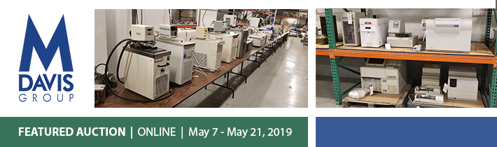 Spring Lab and Analytical Equipment Auction at the M Davis Group Auction Showroom