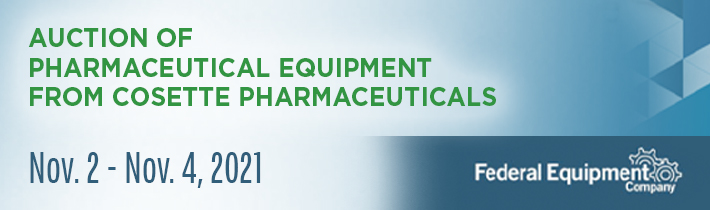 Auction of Pharmaceutical Equipment from Cosette Pharmaceuticals