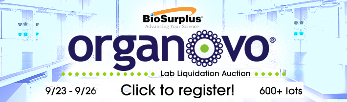 BioSurplus to Conduct Timed Online Liquidation Auction of Lab Assets from Organovo in San Diego, CA