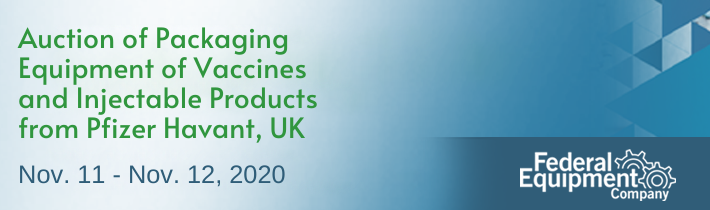 Auction of Packaging Equipment of Vaccines and Injectable Products from Pfizer Havant, UK