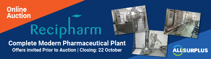 Auction: Recipharm Pharmacutical Equipment Event 900184