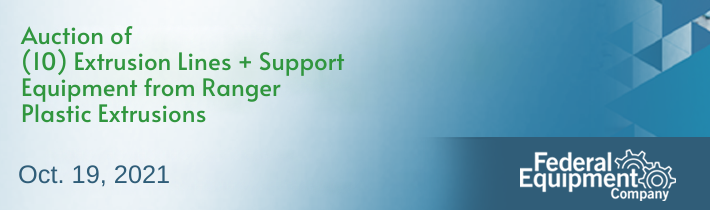 (10) Extrusion Lines + Support Equipment from Ranger Plastic Extrusions