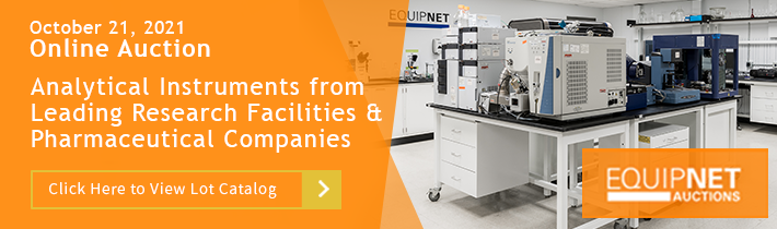 Auction: Laboratory Equipment and Analytical Instruments from Leading Research Facilities and Pharmaceutical Companies