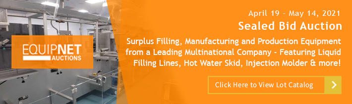 Auction: Surplus Filling, Manufacturing and Production equipment from a leading multinational company