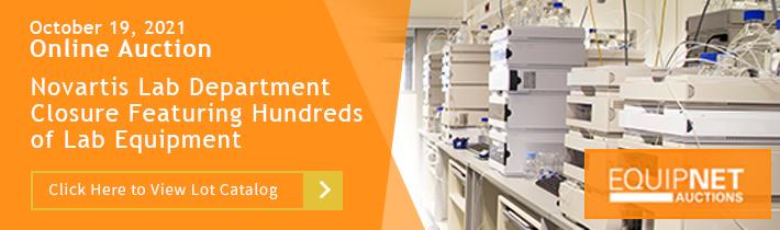 Novartis Lab Department Closure Featuring Lab Equipment from Multiple Facilities in North America