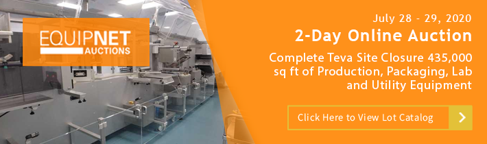 Complete Teva Site Closure 435,000 sq ft of Production, Packaging, Lab and Utility Equipment